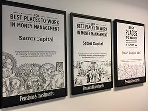 Satori Capital Ranked #2 in 'Pensions & Investments' Best Places to Work