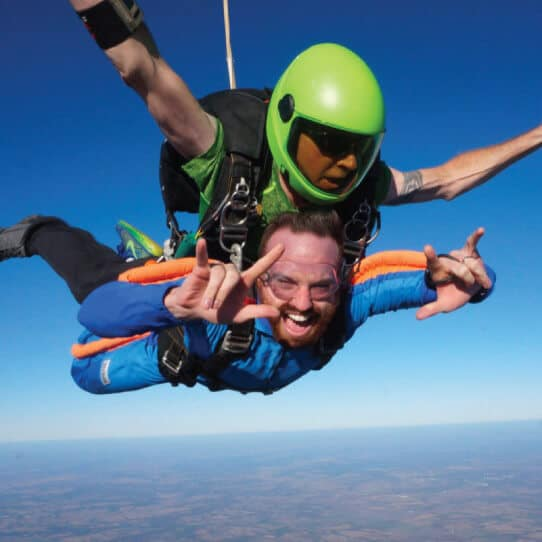 Jon skydiving