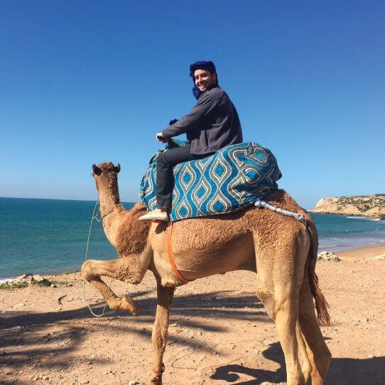 Marshall on a camel